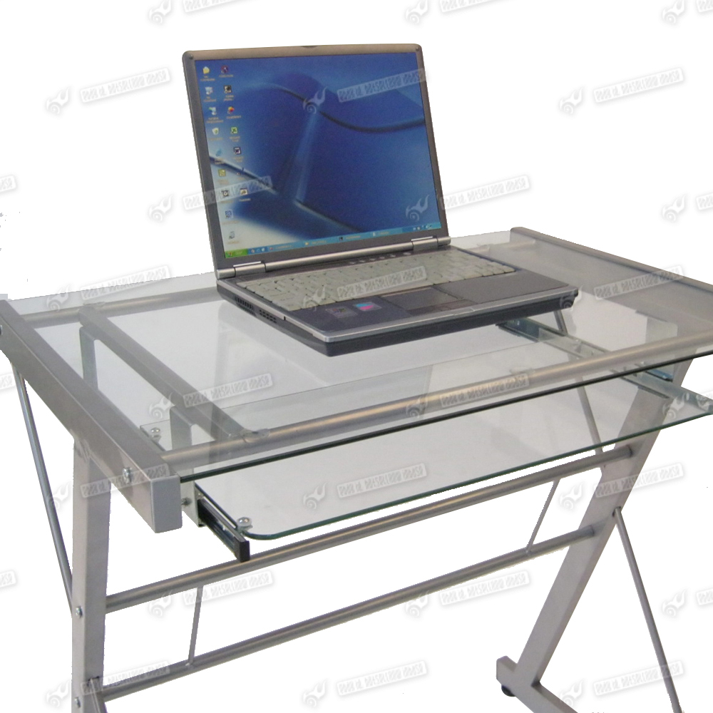 home office 5mm clear glass desktop desk laptop computers table stand