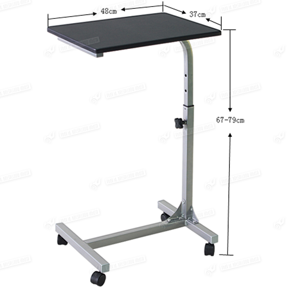New laptop pc stand notebook table office furniture mobile desk wheels - The mobile office working on two wheels ...