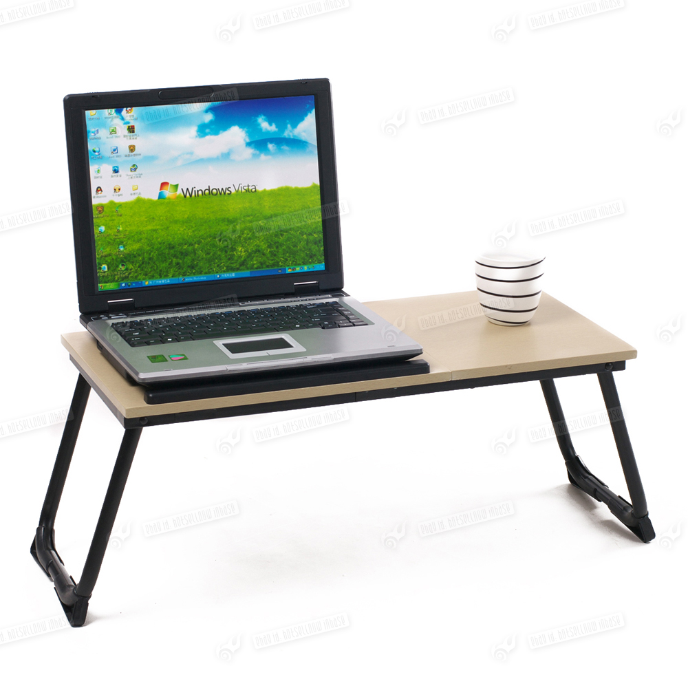 portable folding stand laptop desk wooden lap bed tray computer notebook table. Black Bedroom Furniture Sets. Home Design Ideas