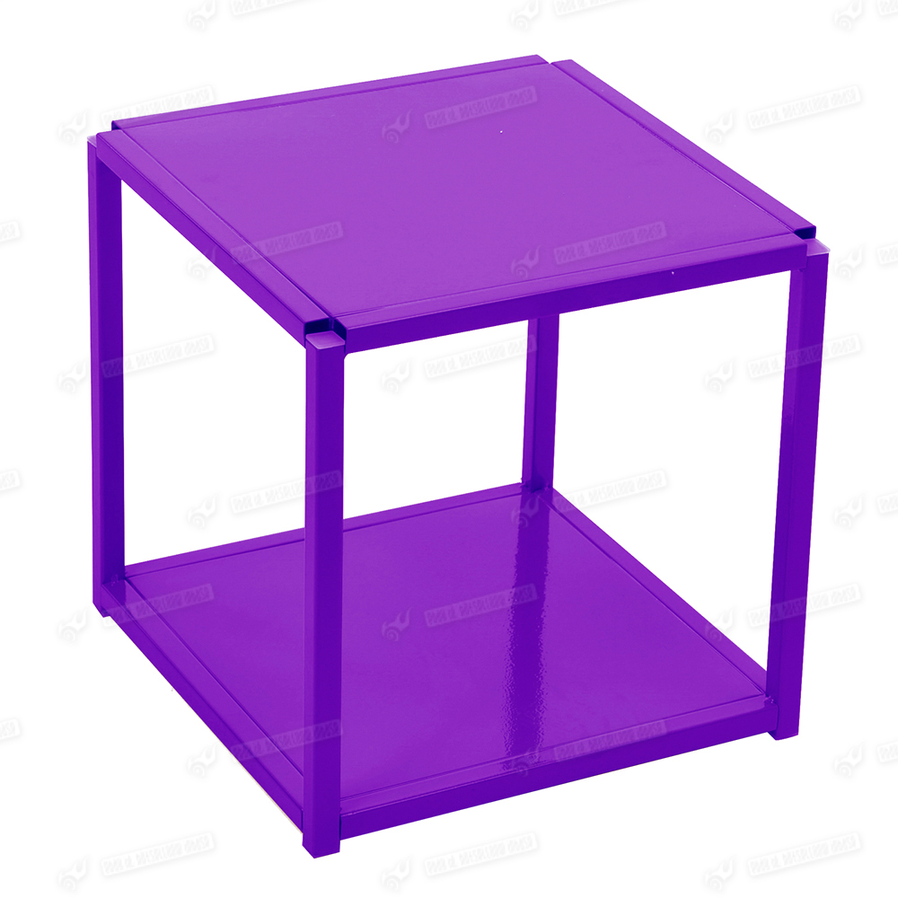 Full metal cube shelf shelves storage shelving potted coffee table chair otto - Cube metal rangement ...