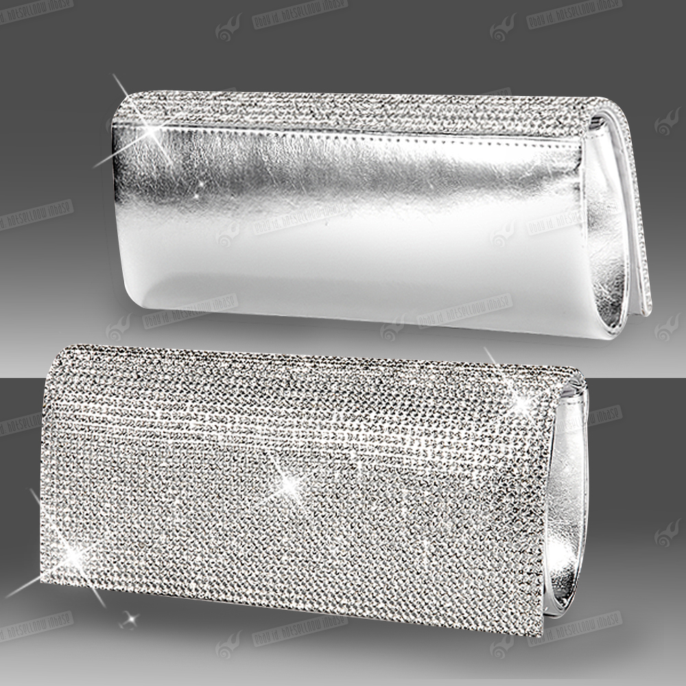 Hot Selling Silver Evening Bag Gold Color Wedding Party Crystal