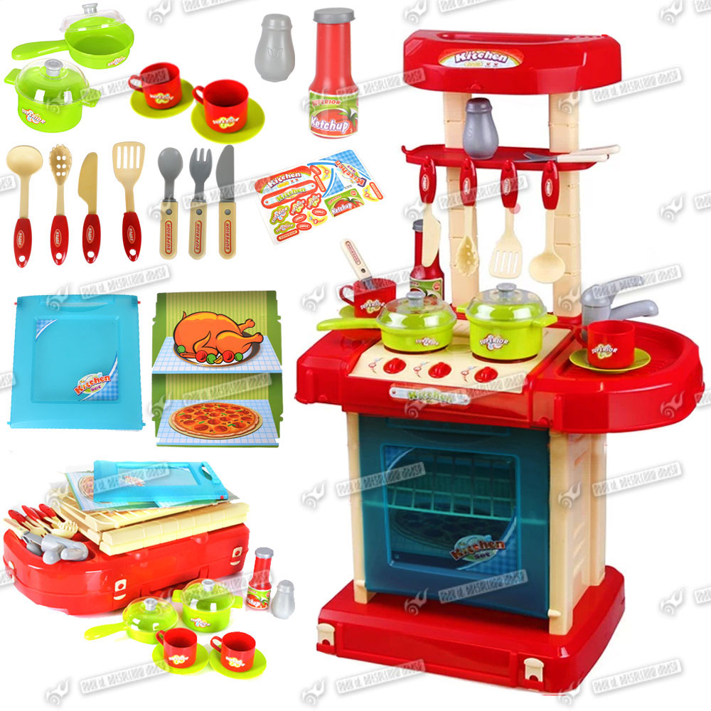 Girls portable electronic light sound kitchen cooking for Kitchen set portable