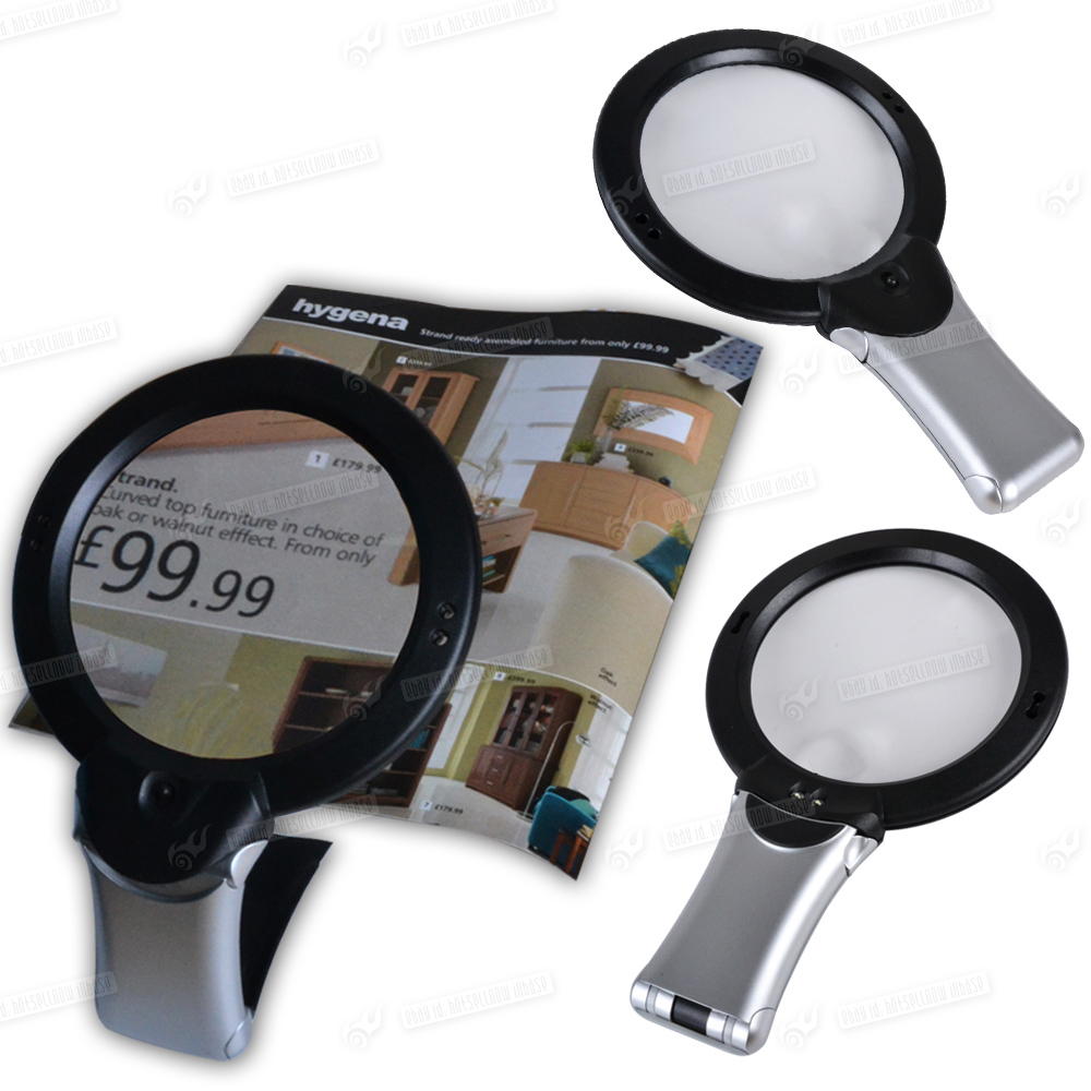 giant large hands free magnifying glass with light led magnifier uk. Black Bedroom Furniture Sets. Home Design Ideas