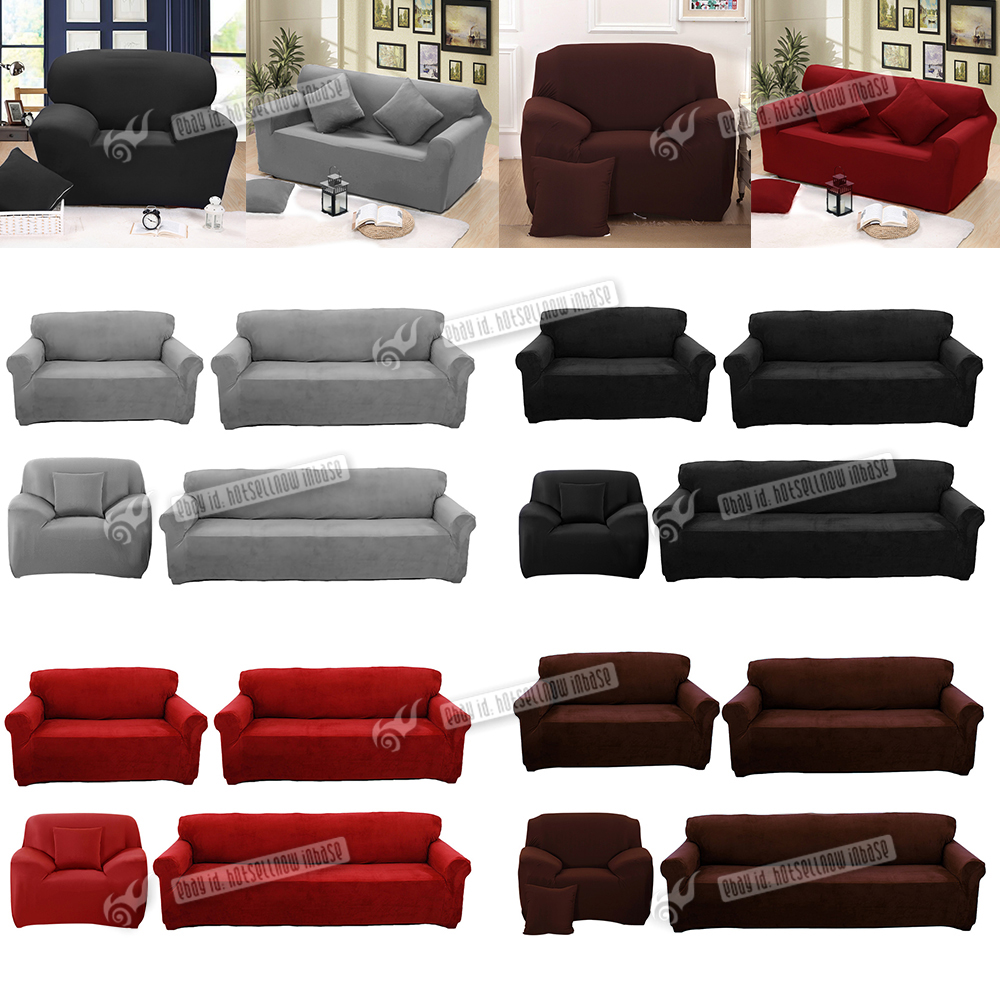 Stretch Sofa Couch Covers Slip Cover 1 Seater Recliner 2