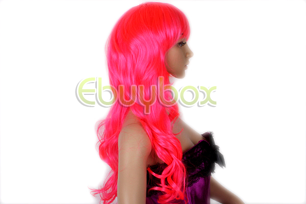 REELVA-Womens-Hair-Fashion-Cosplay-Wavy-Ladies-Hot-Pink-Wigs-Wig-Fancy-Dress