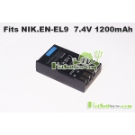 Battery for Nikon EN-EL9 EN-EL9a D3000 D5000 D60 D40x