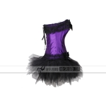 Basques & Corsets New Sexy Purple with Skirt tutu0373