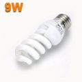 9w Low Energy Saving Warm Light Bulb Screw 6400K E27