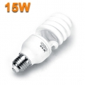LOW ENERGY SAVING SPIRAL LIGHT BULBS 15W CFL 6400K E27