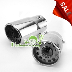 "3.5"" Universal Outlet Stainless Steel Exhaust Muffler"