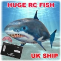 Air Shark RC Remote Control Flying Fish Swimmers Kid Child Toy Gift Christmas UK Stock