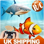 Air Clownfish RC Remote Control Flying Fish Swimmers Kid Child Toy Gift UK*