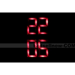 Mens Fashion Red LED Lights Sports  Wrist  Watch New*