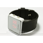 Red LED Digital Mens Sports Wrist Watch Black Strap New**