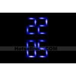 Blue LED Lights Fashion Sports Digital Mens Wrist  Watch***