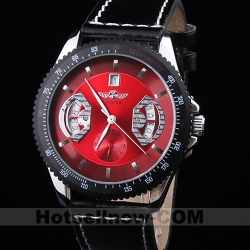 New Automatic Red Dial Mechanical Mens Wrist Watch Gift***