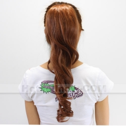 like real hair!Fashion Wigs Long Brown Cosplay hair extension