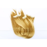 "20""Gold 6 Clips in Hair Extension Hairpiece Cospaly wig"