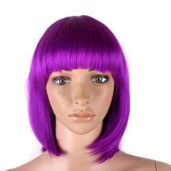 Women's Short Bob Wig Ladies Fancy Dress Cosplay Party