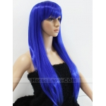 Stunning Long Blue Straight Cosplay Women's Health Wigs