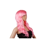 Vogue Long Wavy Curly Women's Lady's Wig/Wigs Pink