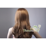 Womens Light Brown Long Wavy COSPLAY WIG Hair Fancy Dress