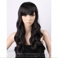 Stunning Black Wavy Hair Women's Health Wigs
