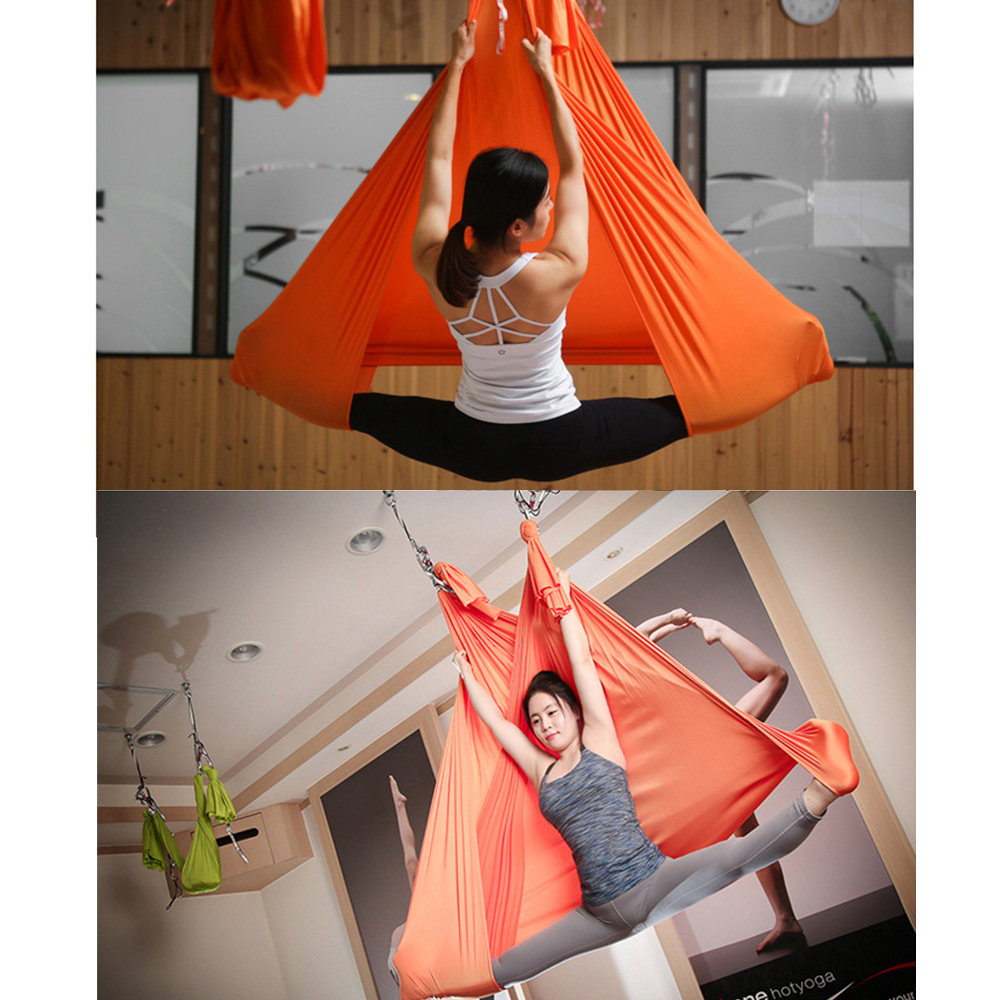 Sports & Entertainment Yoga Hot 1.5x2.5m Yoga Inverted Tool Anti-gravity Hammock Swing Fabric Swing Keep You Fit All The Time