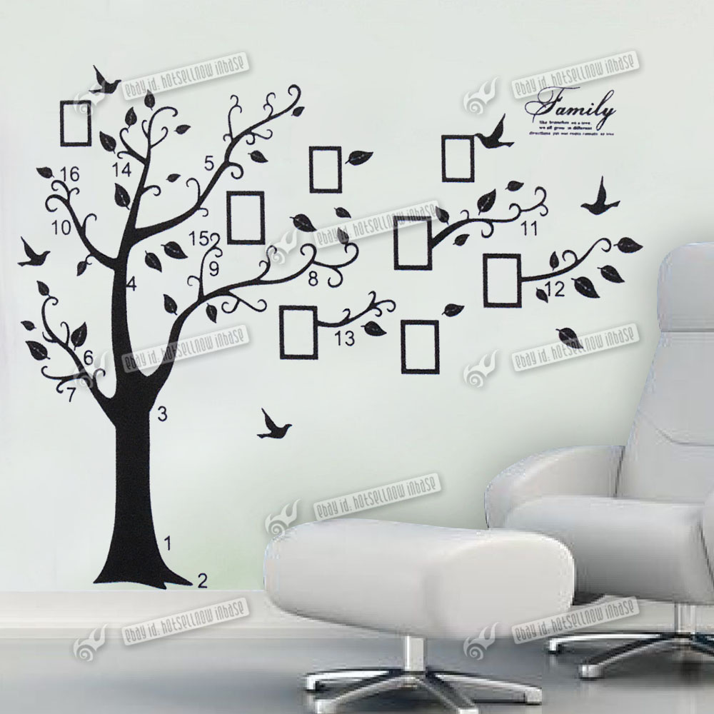 Wall quote family tree photo frame wall sticker art home decal uk wall quote family tree photo frame wall sticker art home decal uk wall parper amipublicfo Choice Image