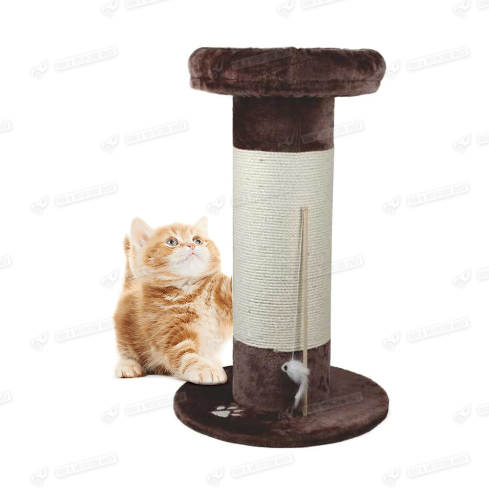 Large cat tree activity centre scratcher scratching post sisal with toys bed ebay - Cat bed scratcher ...