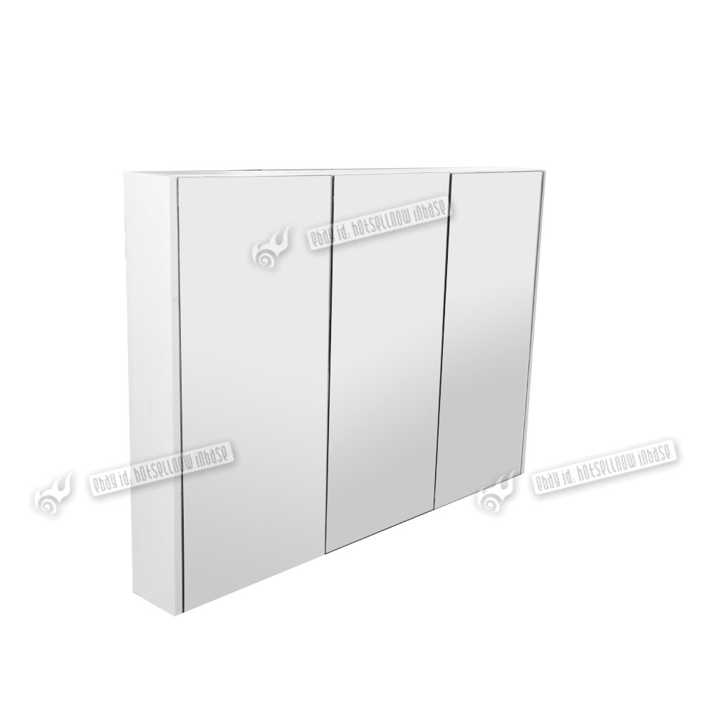 3 door mirrored bathroom cabinet white 900mm 3 door wall mount mirror bathroom cabinet 24756